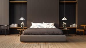 fotolia 98761648 300x169 - Loft and modern bedroom / 3D render image